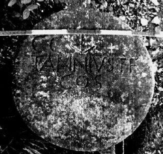 Sommità del nuovo miliare del console Annio da Ponte Maodino, Codigoro, Fe